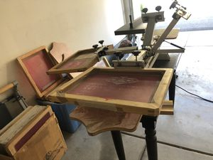4 colors, 2 station manual screen printer (flash included) for Sale in Irvine, CA