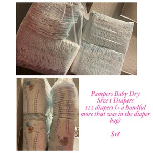 Size 1 Pampers Diapers for Sale in Wilsonville, OR