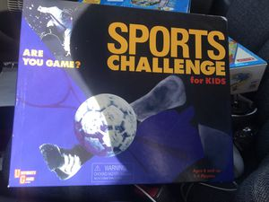 Sports challenge for kids board game for Sale in Shorewood, WI