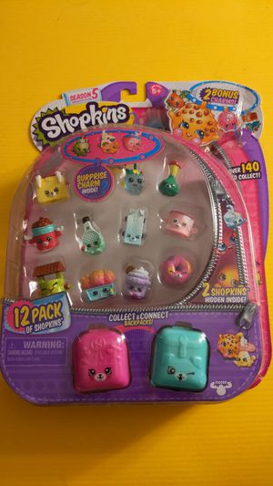 Shopkins S5, 12 pack with 2 back packs NEW for Sale in Ontario, CA
