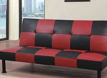 New Box Red And Black Leather Sofa Bed for Sale in College Park,  MD