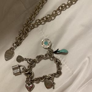 Tiffany And Co Silver Charm Bracelet And Necklace for Sale in Hacienda Heights, CA