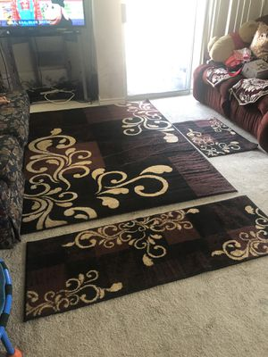 Rug of set of 3 pieces . Brand new , unopened . Two colors . for Sale in West McLean, VA