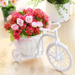 Artificial flowers Silk Roses plastic bicycle desktop decorative Rose bonsai plant Fake flowers for Wedding decorative flower for Sale in Des Moines, WA