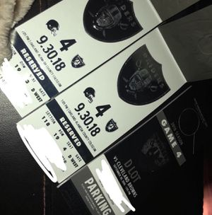 Raiders tickets and parking for Sale in Sanger, CA