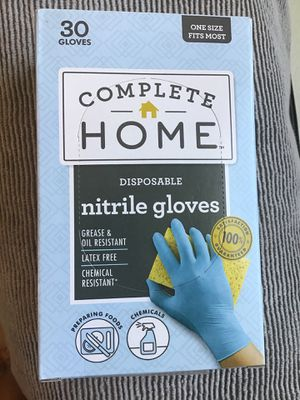 Nitrile gloves 30ct boxes 3 boxes =90 gloves latex free for Sale in McDonough, GA