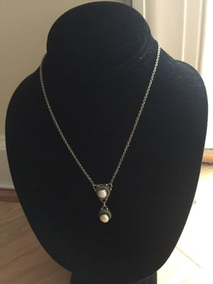 Sterling Silver Pearl Necklace for Sale in Alexandria, VA