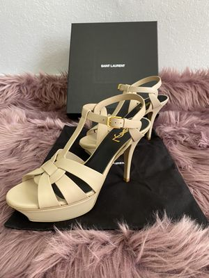 Tribute Saint Laurent Tribute Leather 75mm Sandals for Sale in Miami, FL