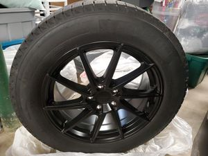Compete Set of 4 Winter Tires and Black Wheels Rims Michelin XIce 18 for Sale in Downers Grove, IL