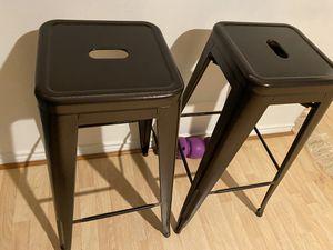 Bar stools industrial metal for Sale in McLean, VA