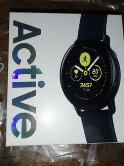BRAND NEW Samsung Galaxy Watch Active (40mm), Black (GPS, Bluetooth) for Sale in Seattle,  WA