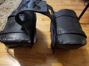Leather Motorcycle Saddlebags Saddle Bags Holders Carrying Case for Sale in Los Angeles, CA