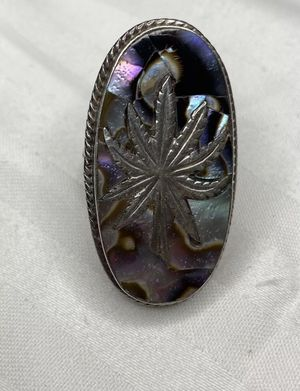 Vintage Abalone Marijuana Weed Leaf Ring for Sale in Redondo Beach, CA