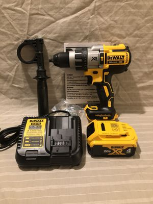 Brand new never used Dewalt XR 20V brushless 3 speed hammer drill, XR 4Ah battery, charger & tool bag. Will trade for gold or silver coins for Sale in Vacaville, CA