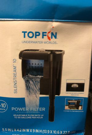 Top fin 10 gallon fish tank filter for Sale in Portland, OR
