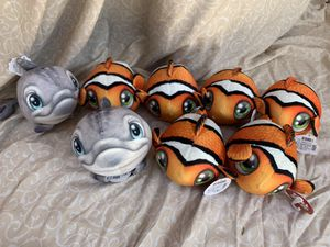 Plushies Finding Nemo Clownfish and Dolphins for Sale in Los Angeles, CA