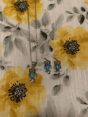 Turquoise Owl Jewelry Set for Sale in Wirtz, VA