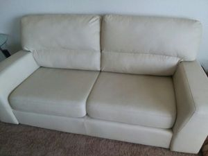 """White """"Leather"""" Couch for Sale in Austin, TX"""