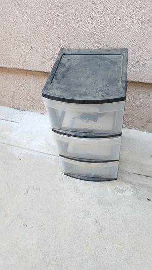 Sterilite 3 drawer black plastic organizer for Sale in Long Beach, CA
