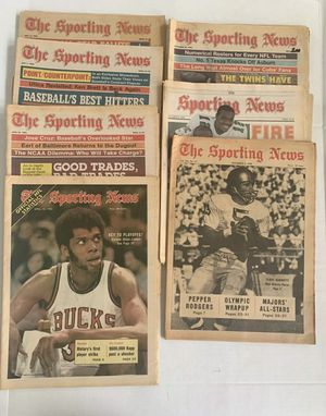 The Sporting News 1968-1989 Not Consecutive Kareem Abdul Jabbar Pete Rose Lot-8 Rare Find!! Very cool articles.. for Sale in Ocoee, FL