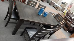 7pc gray dining table for Sale in Modesto, CA