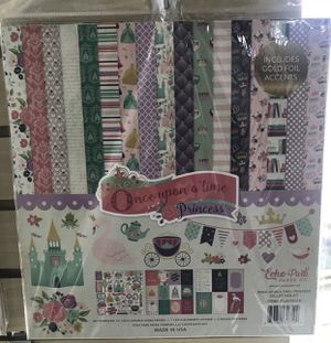 12 x 12 Echo Park Once Upon A Time princess girl Scrapbook Paper Stickers kit for Sale in Whittier, CA