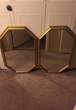 2 Gold Framed Octagon Wall Mirrors for Sale in Clearwater, FL
