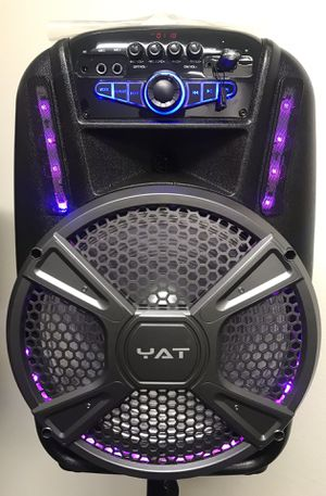 12 inch party speaker very loud Bluetooth rechargeable speaker wireless microphone for Sale in Los Angeles, CA