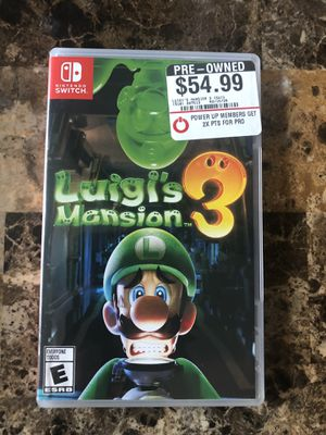 Luigi's Mansion 3 Nintendo Switch Game for Sale in Silverado, CA
