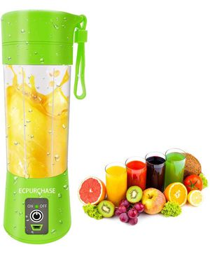 Portable Blender USB Rechargeable, Small Blender Single Serve, Personal Size Blender Travel Blender Juicer Cup 380ml (FDA, BPA free) green for Sale in South El Monte, CA