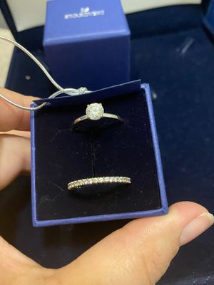 Swarovski wedding rings size 8 for Sale in Boston, MA