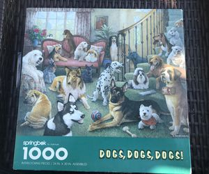 Springbok Jigsaw Puzzle - Dogs, Dogs, Dogs #PZL6131 - 1000 Pieces for Sale in Mableton, GA