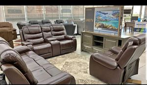 ⚘🌹HELLO Reclining Set 3pc With 55''Samsung Smart TV DOWN PAYMENT $39NO CREDIT CHECK for Sale in Houston, TX