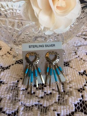 Silver Hearts earring / western style for Sale in Alexandria, VA