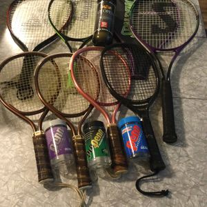 7 RACKETS AND BALLS (tacoma location) for Sale in Seattle, WA