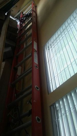 24 feet silver and orange strong Winner construction ladder. for Sale in Hanover, MD