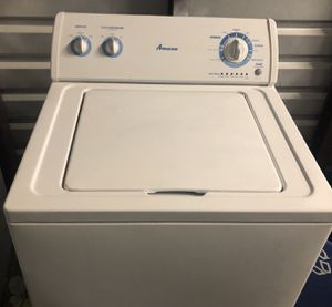 Mint condition large capacity amana washer ( warranty ) for Sale in Dearborn Heights, MI