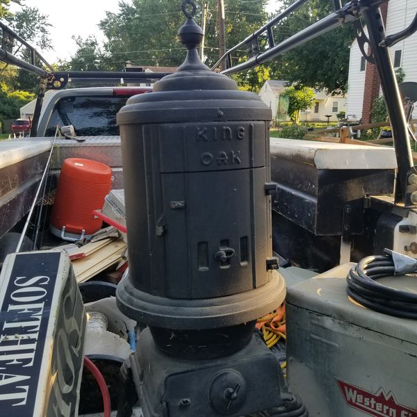 King oak wood stove