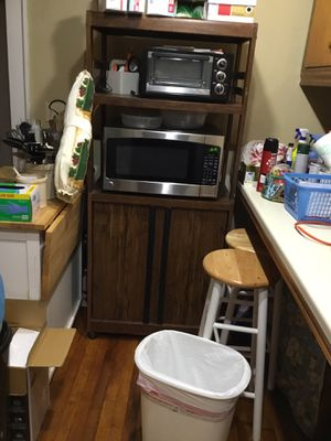 Microwave oven stand and storage $20 for Sale in Augusta, KS