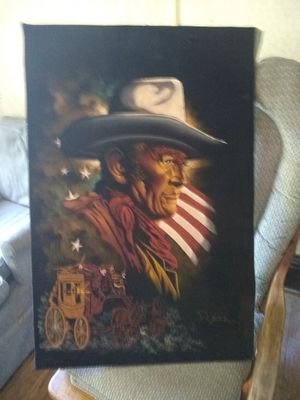 John wayne (the duke) 3ft/2ft painting for Sale in Canton, IL