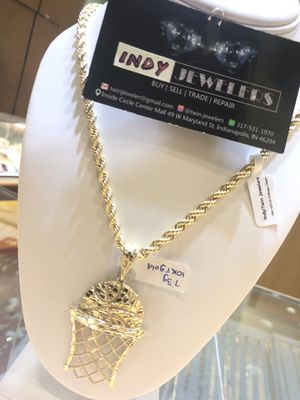 10Kt gold chain and charm available on sale for Sale in Indianapolis, IN