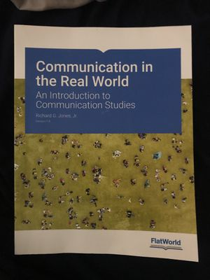Communication in the Real World Textbook for Sale in Manassas, VA
