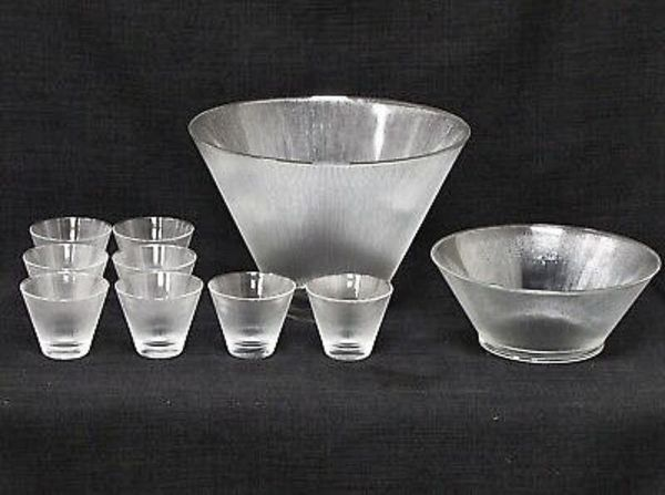NORSE - VINTAGE Mid Century Modern Punch Bowl Set