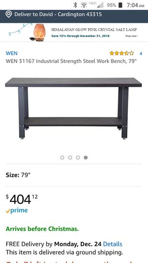 Industrial Strength Work Bench for Sale in Cardington, OH