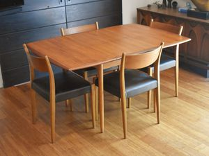 Danish teak dining set (table, four chairs) for Sale in Bellevue, WA