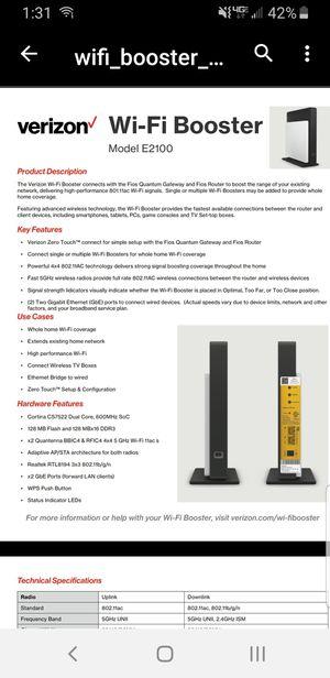 VERIZON WIFI BOOSTER E1220 for Sale in Covina, CA