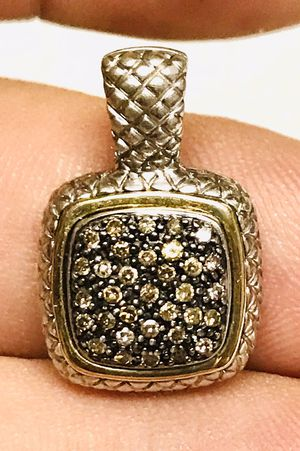Sterling and 14k gold chocolate diamonds pendant for Sale in Ponte Vedra Beach, FL