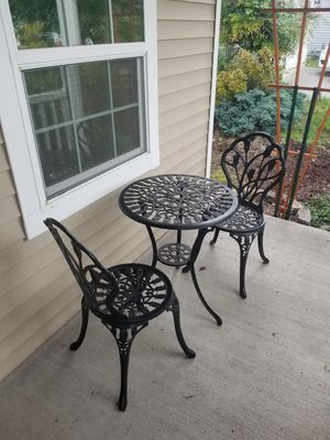 Metal outdoor table and chair for Sale in Vancouver, WA