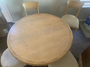 Shabby Chic Breakfast / Dining Table with 4 Chairs for Sale in Phoenix, AZ