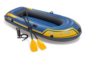 J INTEX CHALLENGER 2, 2-PERSON INFLATABLE BOAT SET WITH FRENCH OARS AND HIGH OUTPUT AIR PUMP (LATEST MODEL) for Sale in San Diego, CA